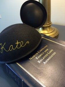 Kate Miller's Disney hat and a legal book
